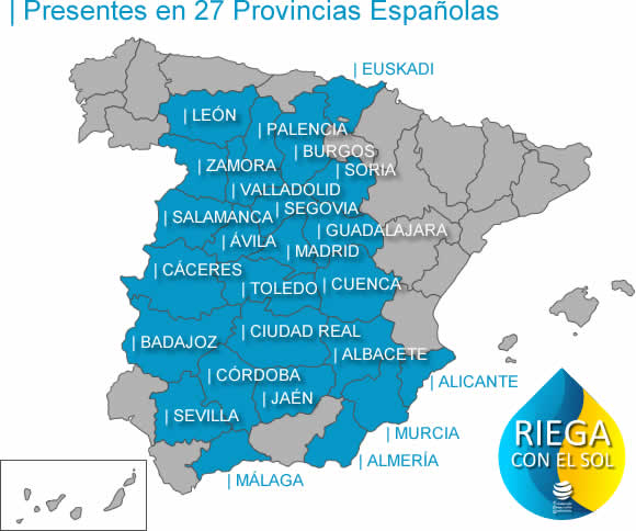 Actualmente, hemos finalizado el proceso de Acreditación en 27 provincias españolas